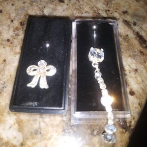 2 new in box never used belly button rings